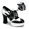 GANGSTER-15 Black/White Patent